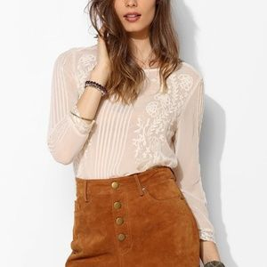BDG Staring at Stars UO Suede Leather Shorts
